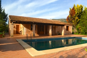Elegant natural stone finca with pool at Randa's feet