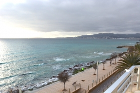 Sold! Apartment with wonderful sea views in first line of Portixol